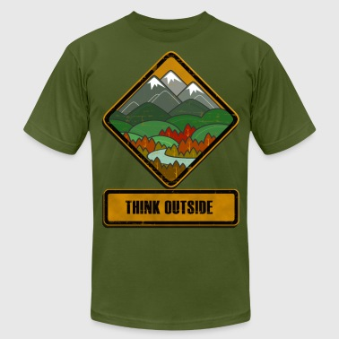Think Outside - Men's Fine Jersey T-Shirt