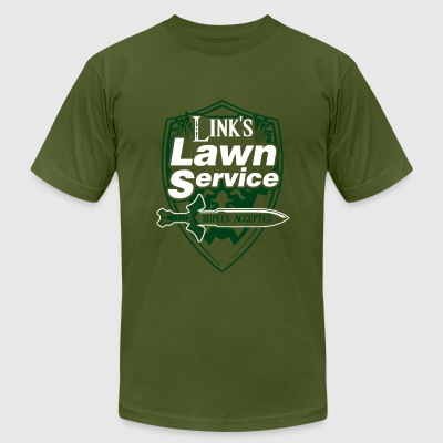 Links Lawn Service - Men's T-Shirt by American Apparel
