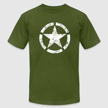 Distressed Broken Ring Star National Symbol - Men's Fine Jersey T-Shirt