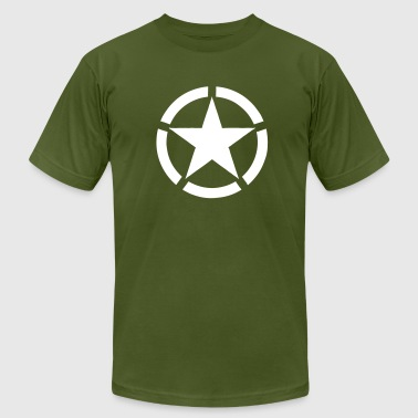 Broken Ring White Star National Symbol - Men's Fine Jersey T-Shirt