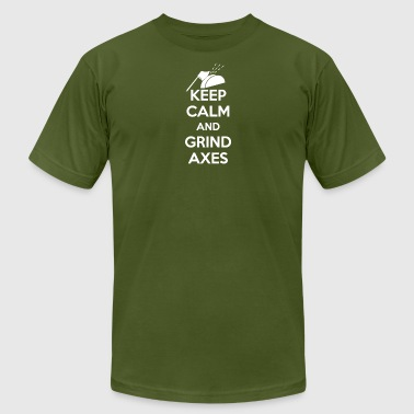 Keep Calm And Grind Axes - Men's T-Shirt by American Apparel