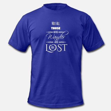 Lost Logo Not All Those Who Wander Are Lost ~ White - Men's Jersey T-Shirt