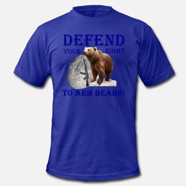 Arm Defend Your Right to Arm Bears - Men's  Jersey T-Shirt