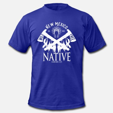 New Mexico Vintage native american vintage -wild and free- New Mexico - Men's  Jersey T-Shirt
