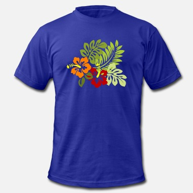Hawaiian Designs Hawaiian Flowers - Men's Jersey T-Shirt