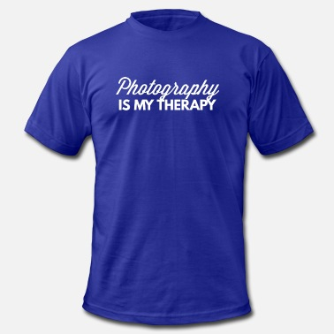 Photography Is My Therapy Photography is my therapy - Men's  Jersey T-Shirt