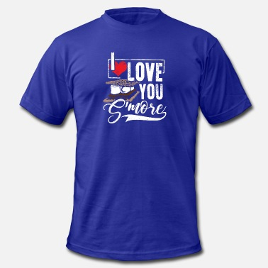 Smores I Love You S'more Funny Campfire Camping T-Shirt - Men's  Jersey T-Shirt
