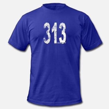 54db07d02 Area Code Vintage Detroit Area Code 313 - Men's Jersey ...