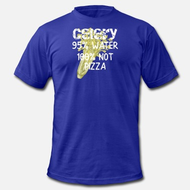 Celery Diet Celery is 100 Percent Not Pizza Funny Dieting Gift - Men's  Jersey T-Shirt