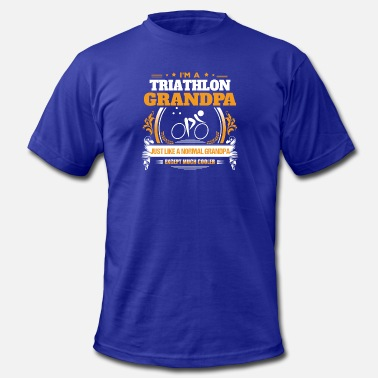 Triathlon Grandpa Triathlon Grandpa Shirt Gift Idea - Men's  Jersey T-Shirt