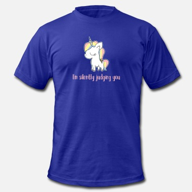 Unicorn Sarcasm Unicorn - Judge - Sarcasm - Cute - Gift - Men's  Jersey T-Shirt