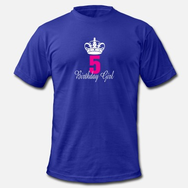 5 Years Old Funny Birthday Girl 5 Years Old - Men's  Jersey T-Shirt