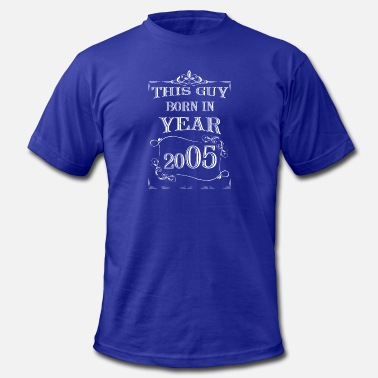 Funny White Guy this guy born in year 2005 white - Men's  Jersey T-Shirt