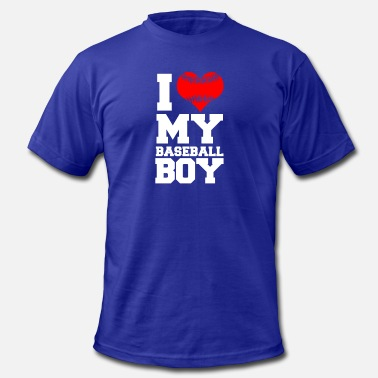 I Love My Basketball Boy Baseball boy - Men's  Jersey T-Shirt