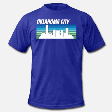 Retro City Retro Oklahoma City Skyline - Men's Fine Jersey T-Shirt