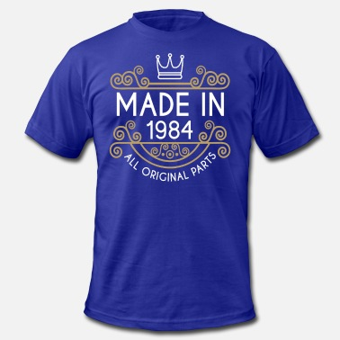 Made In 1984 All Original Parts Made In 1984 All Original Parts - Men's Fine Jersey T-Shirt