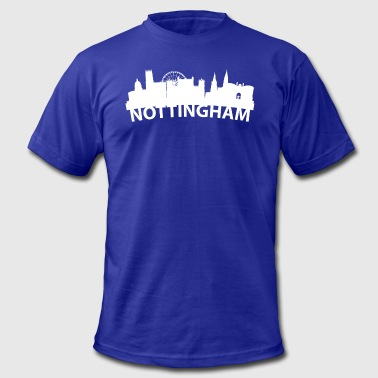 Nottingham Arc Skyline Of Nottingham England - Men's Fine Jersey T-Shirt