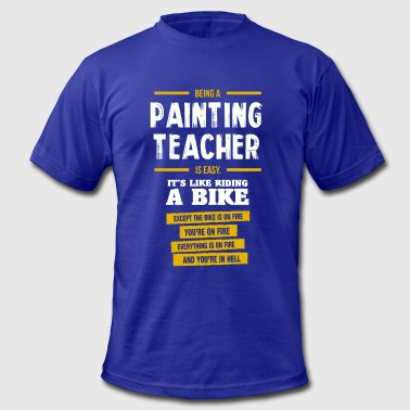 Biking Paint painting teacher - Men's Fine Jersey T-Shirt