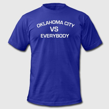 OKLAHOMA CITY VS EVERYBODY GOKC - Men's Fine Jersey T-Shirt