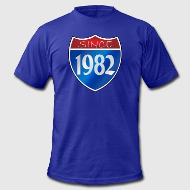 Awesome Since 1982 Since 1982 - Men's Fine Jersey T-Shirt