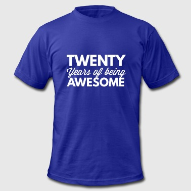 20 years of being awesome - Men's Fine Jersey T-Shirt