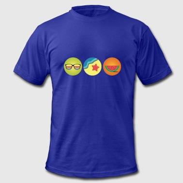 Sun Beach and Melons | Summer Gift Idea - Men's Fine Jersey T-Shirt