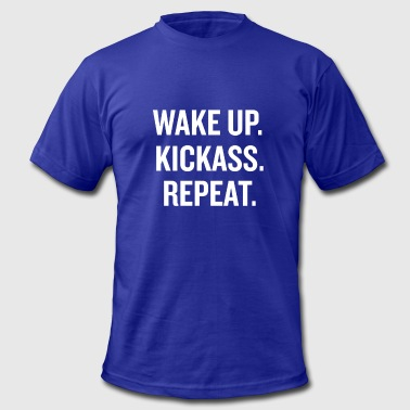 Wake Up Kick Ass - Men's Fine Jersey T-Shirt