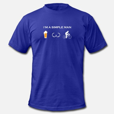 Breasts Bicycle simple man like boobs bier beer titten bicycle cyc - Men's Fine Jersey T-Shirt