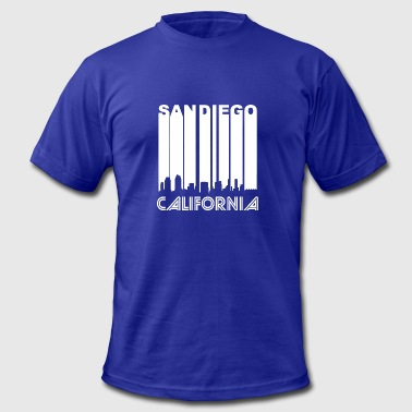 Retro San Diego Skyline - Men's Fine Jersey T-Shirt