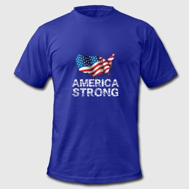 America Strong Veteran America Strong - Men's Fine Jersey T-Shirt