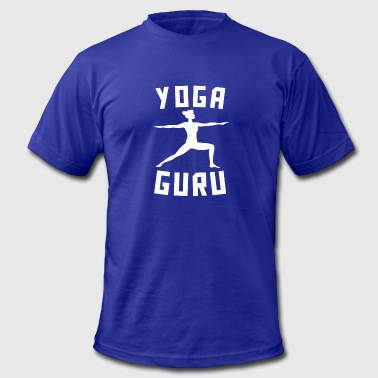 Yoga Guru Yoga Guru Warrior Two Silhouette Funny Yoga - Men's Fine Jersey T-Shirt