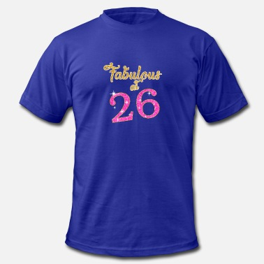 Funny %26 %26 %26 Fabulous at 26 - Men's Fine Jersey T-Shirt