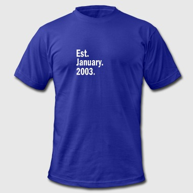 Est 2003 Est January 2003 - Men's Fine Jersey T-Shirt