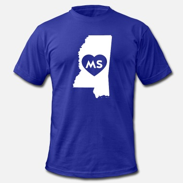 Ms America I Love Mississippi State - Men's  Jersey T-Shirt
