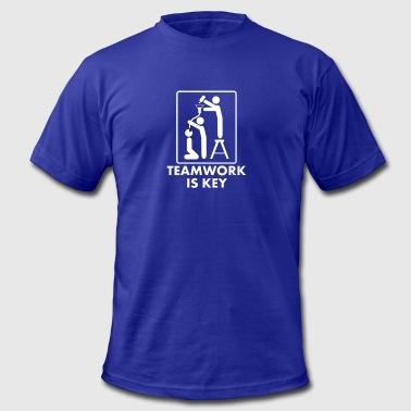 The Key Of Awesome TEAMWORK IS KEY - Men's Fine Jersey T-Shirt