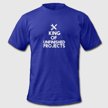 The king of unfinished projects - Men's Fine Jersey T-Shirt