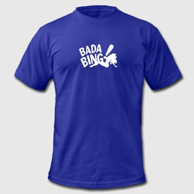 Gangster Animated Film Badabing Funny Movie Film Gangster Banter Old Time - Men's Fine Jersey T-Shirt