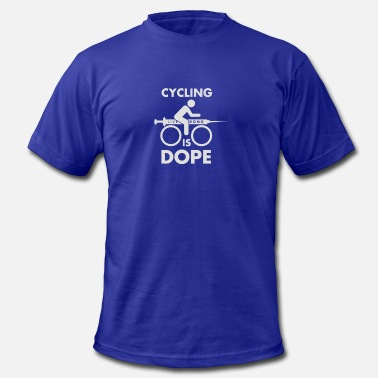 Cycling Is Dope Cycling Is Dope - Men's Fine Jersey T-Shirt