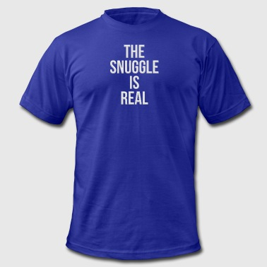 The snuggle is real - Men's Fine Jersey T-Shirt