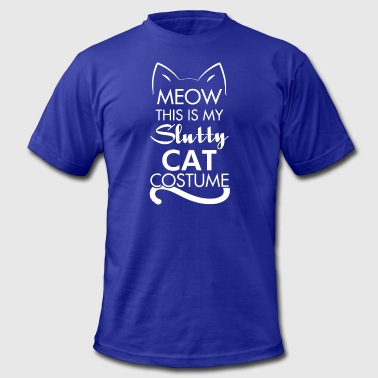 Slutty Sexy Cat Costume - Men's Fine Jersey T-Shirt