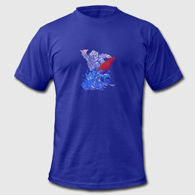 Surfin Yeti - Men's T-Shirt by American Apparel