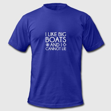 I Like Big Boats - Men's Fine Jersey T-Shirt