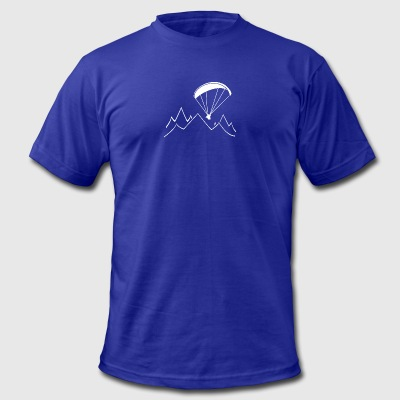 paragliding mountain - Men's T-Shirt by American Apparel