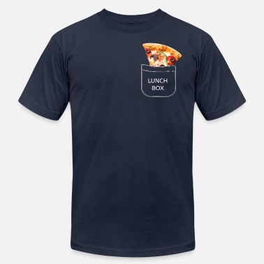 Lunch-boxes Pizza slice in the breast pocket. Lunch box. - Unisex Jersey T-Shirt