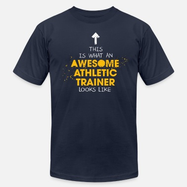 Athletic Awesome Athletic Trainer Looks Like - Men's Jersey T-Shirt