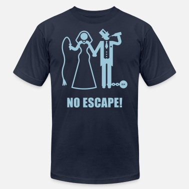 Marriage Slave Husband No Escape! (Wedding / Groom / Bachelor Stag Party) - Men's Jersey T-Shirt