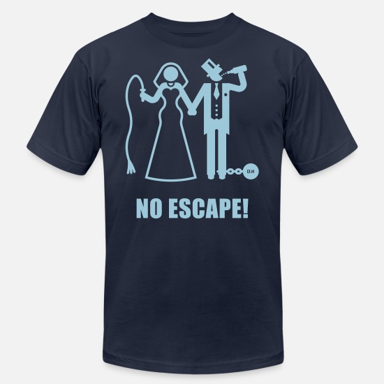 Bachelor Party T-Shirts - No Escape! (Wedding / Groom / Bachelor Stag Party) - Men's Jersey T-Shirt navy