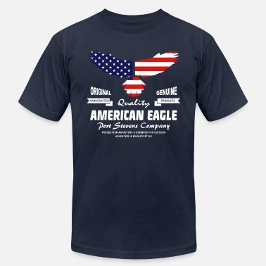 Eagles American Eagle - USA Flag - Unisex Jersey T-Shirt
