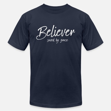 Youth Believer Saved By Grace, christian, motivation - Men's Jersey T-Shirt