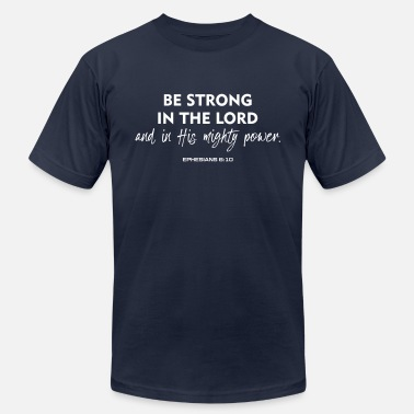 Youth Be Strong in the Lord, Christian, Faith - Men's Jersey T-Shirt